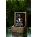 fontaine bouddha méditation